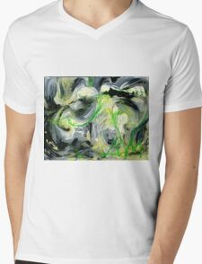 Green Water Cave - Original acrylic painting on Canvas  Mens V-Neck T-Shirt