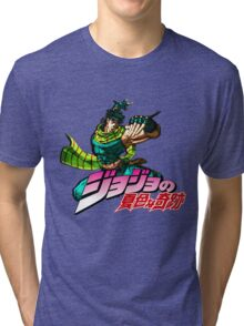 Jojo's Bizarre Adventure | Joseph Joestar Tri-blend T-Shirt