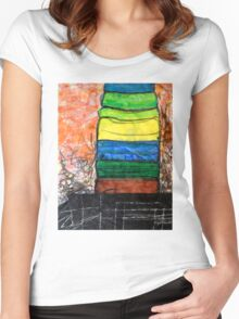 Piled Color Women's Fitted Scoop T-Shirt