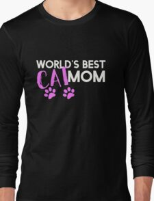 World's best cat mom Long Sleeve T-Shirt