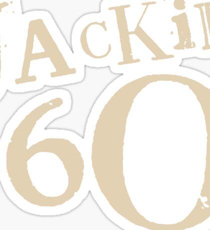 Brown Jackie 60 Logo Wear Sticker