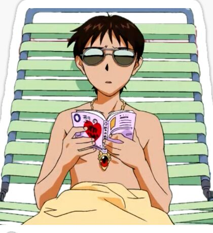 cool shinji Sticker