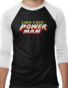 Luke Cage: Power Man - Classic Title - Clean Men's Baseball ¾ T-Shirt