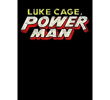 Luke Cage: Power Man - Classic Title - Dirty Photographic Print