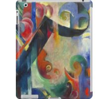 Vintage famous art - Franz Marc - Broken Forms iPad Case/Skin
