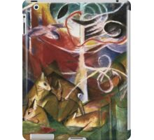 Vintage famous art - Franz Marc - Deer In The Forest iPad Case/Skin