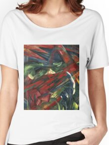 Franz Marc - Animals In A Landscape .German Landscape Women's Relaxed Fit T-Shirt