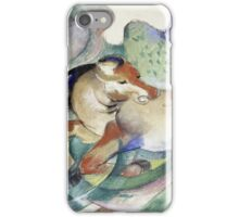 Franz Marc - Jumping Horse -German Landscape iPhone Case/Skin