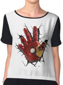 Iron man's hand Chiffon Top