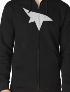 Mirrors Edge Minimalist Logo -White Zipped Hoodie