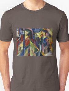 Vintage famous art - Franz Marc - Stables (Stallungen) T-Shirt