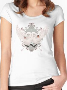 Warring Swans Women's Fitted Scoop T-Shirt