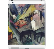 Vintage famous art - Franz Marc - The Unfortunate Land Of Tyrol iPad Case/Skin