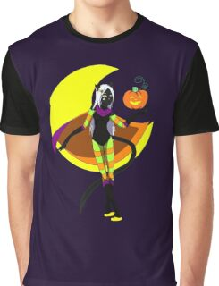 Halloween Magic Cat Graphic T-Shirt