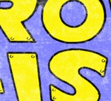 Iron Fist - Classic Title - Dirty Sticker