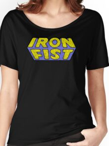 Iron Fist - Classic Title - Dirty Women's Relaxed Fit T-Shirt