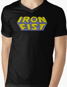 Iron Fist - Classic Title - Dirty Mens V-Neck T-Shirt