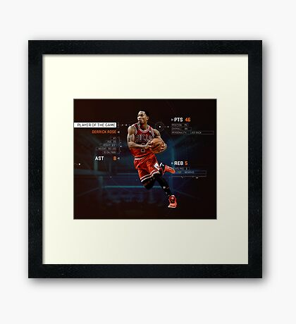 Player Of The Game Framed Print