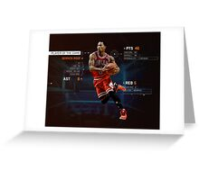 Player Of The Game Greeting Card