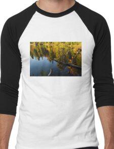 Mesmerizing Fall Reflections Men's Baseball ¾ T-Shirt