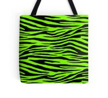 0127 Chartreuse Tiger (WWW) Tote Bag