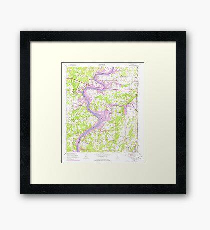 USGS TOPO Map Alabama AL Riverside 304953 1947 24000 Framed Print