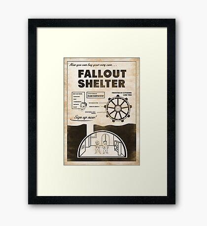 Shelter Propaganda Poster Framed Print