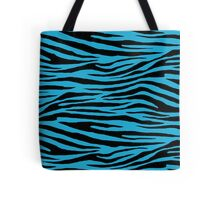 0131 Battery Charged Blue Tiger Tote Bag