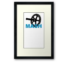 Fixie mash crank Framed Print