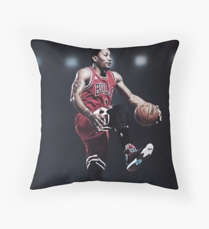 Fast Break Dunk Throw Pillow