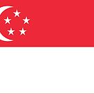 Singapore Flag Stickers by Mark Podger