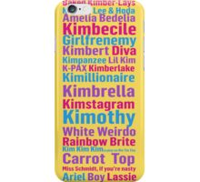 All of Titus' Nicknames for Kimmy Schmidt iPhone Case/Skin