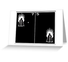 Game of Ping Pong Greeting Card