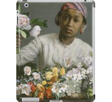 Vintage famous art - Frederic Bazille - Young Woman With Peonies iPad Case/Skin