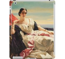 Vintage famous art - Franz Xaver Winterhalter - Portrait Of Leonilla, Princess Of Sayn-Wittgenstein-Sayn 1843  iPad Case/Skin