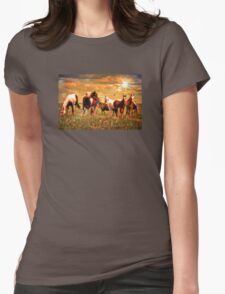 Wild Horses Womens Fitted T-Shirt