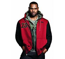 Young Lebron On Jeans Photographic Print