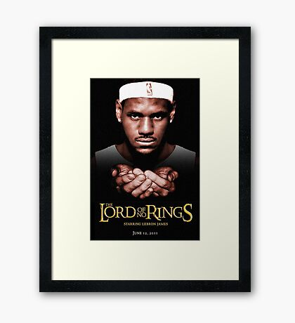 Lord Of No RIngs - Poor Lebron Framed Print