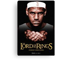 Lord Of No RIngs - Poor Lebron Canvas Print