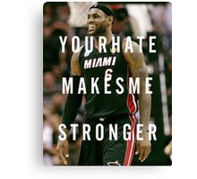 Smiling Lebron Canvas Print
