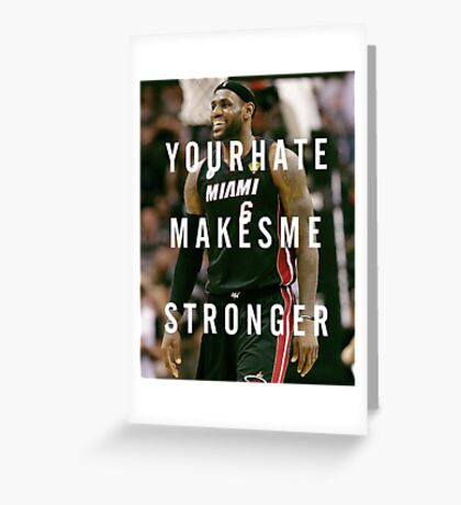 Smiling Lebron Greeting Card