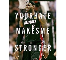 Smiling Lebron Photographic Print