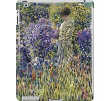 Vintage famous art - Frederick Carl Frieseke - Lady In A Garden iPad Case/Skin