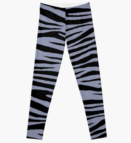 0143 Cool Grey or Gray-Blue Tiger Leggings