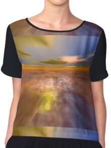 HYPERION WORLD /ALIEN SEASCAPE SKY AND CLOUDS  Sci-Fi Chiffon Top