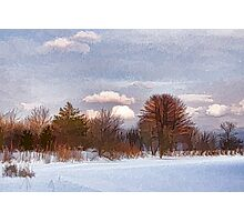 Colorful Winter Day on the Lake Photographic Print