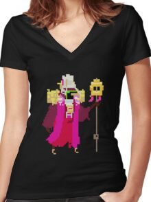 Hyper Light Drifter - The Hierophant Women's Fitted V-Neck T-Shirt