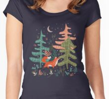 Evergreen Fox Tale Women's Fitted Scoop T-Shirt