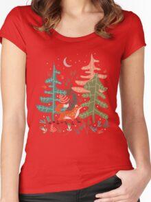 Evergreen Fox Tale Women's Fitted Scoop T-Shirt