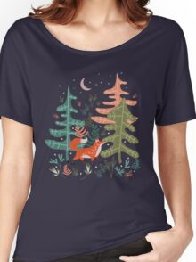 Evergreen Fox Tale Women's Relaxed Fit T-Shirt
